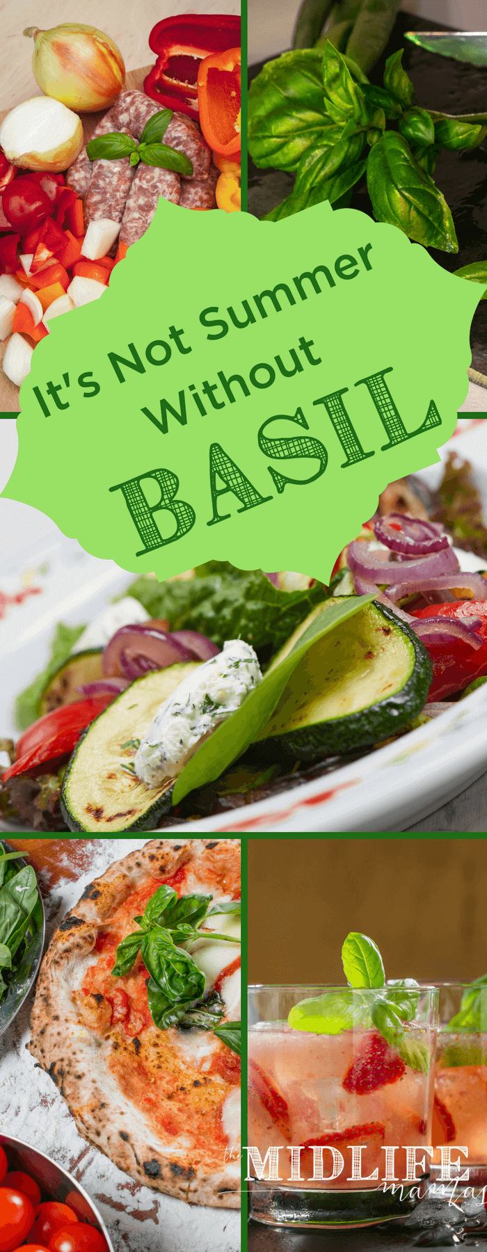 I mark the true arrival of summer every year when I start cooking with basil. It's fresh, delicious, easy to grow and it's all the tastes of summer in one place! www.themidlifemamas.com