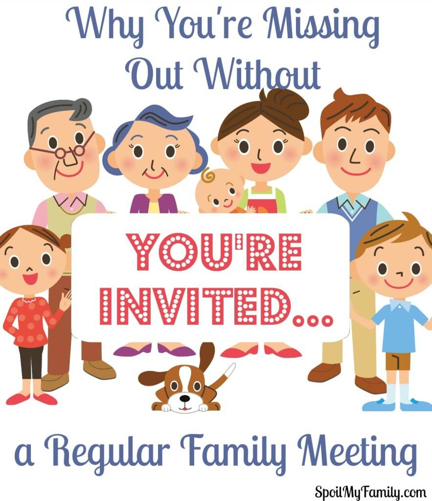 Families Meetings are great for everyone to attend - no matter their age