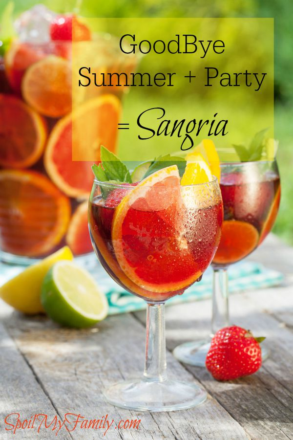 So Long, Summer Sangria is a great quick party drink to sip on with friends! www.themidlifemamas.com