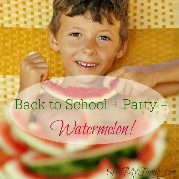 No back to school party is complete without watermelon! The children love the watermelon as much as the fact that it's drippy and messy! www.themidlifemamas.com