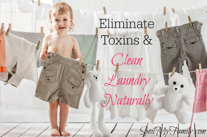 Traditional laundry products emit volatile organic compounds, several of which are classified as carcinogens. Want to know how to eliminate them and clean laundry naturally? www.themidlifemamas.com