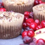 Allergen free muffin recipes can be hard to find. These cranberry peach cobbler muffins are a delicious and healthy way to celebrate both summer and fall! Cranberry Peach Cobbler Muffins are terrific any time of day - morning, noon, or night. www.themidlifemamas.com