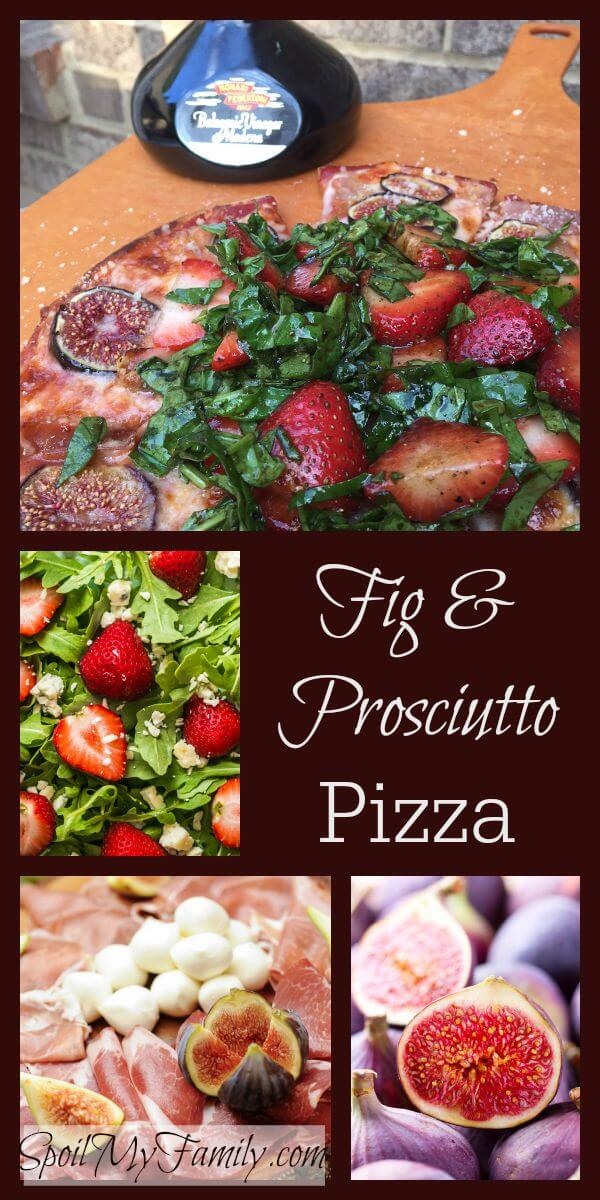 The sweet, jammy flavor of figs combined with the salty flavor of both the prosciutto and the parmesan cheese is so perfectly matched. But then you add the contrast of the warm, gooey cheese and the crispy crust with cool crisp arugula and strawberries and it's perfectly magic! www.themidlifemamas.com #figandprosciutto
