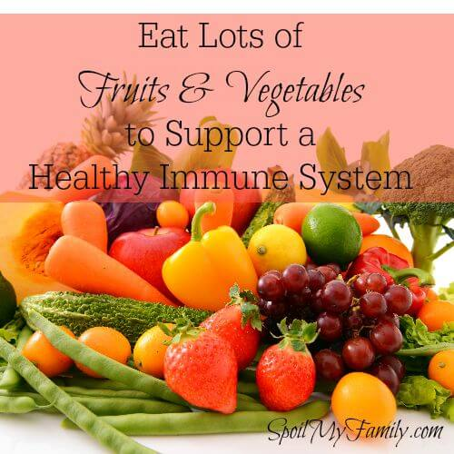 A healthy and varied diet filled with lots of fruits and vegetables should be part of your family's year round plan to support healthy immune systems. www.themidlifemamas.com #healthyimmunesystem #fruitsandvegetables #healthyimmunesystem