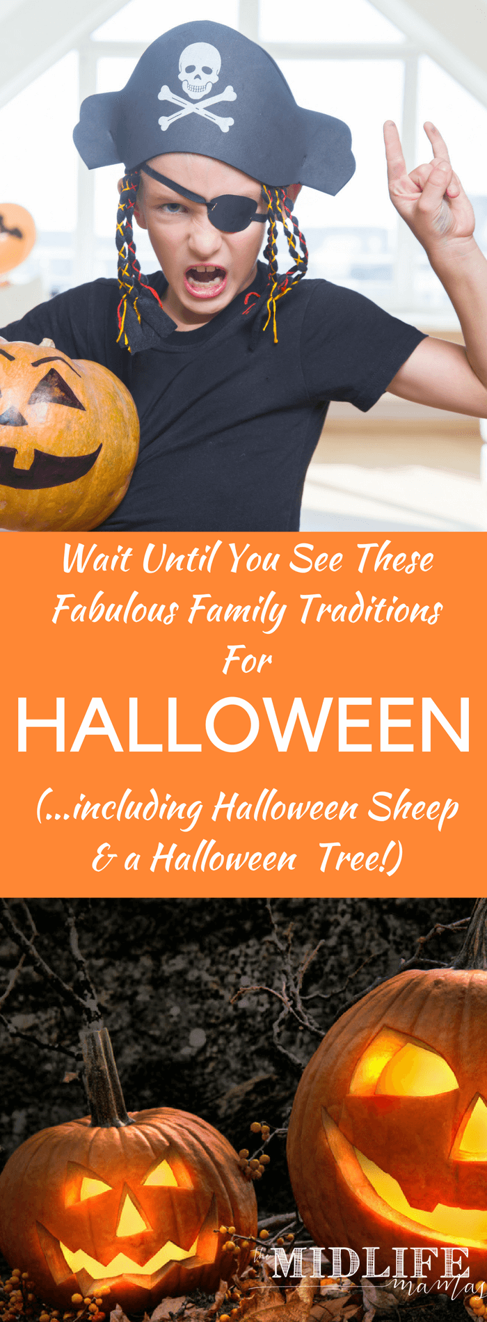 If you're looking for some of the best family traditions for Halloween, I love all these ideas for decorations, art, costumes and fun that have become family traditions for so many families! #familytraditions #Halloween www.themidlifemamas.com