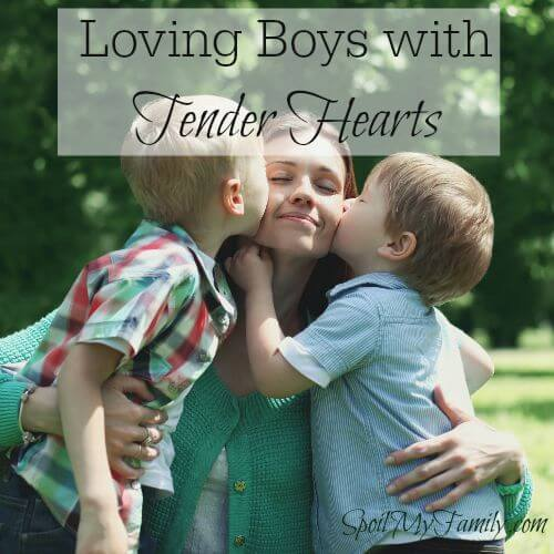 Young boys haven't year learned to guard their hearts. They are freely and openly snuggly! www.themidlifemamas.com #motheringboys