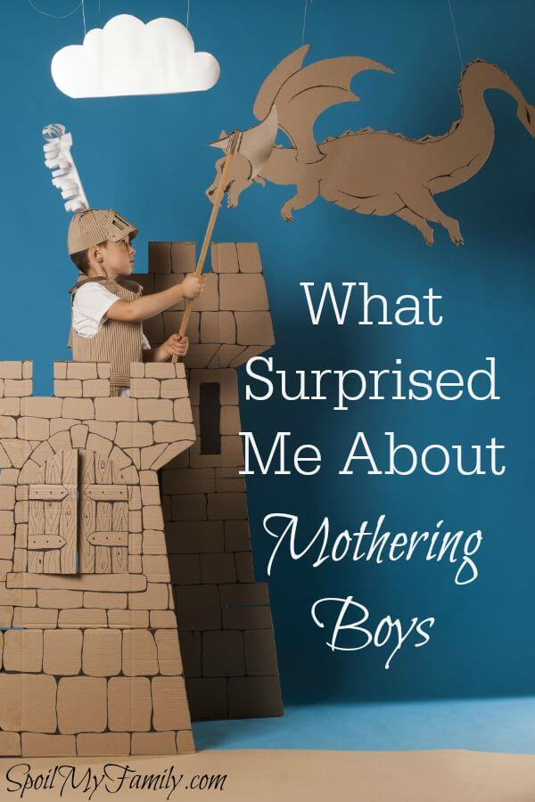 Some things I expected about mothering boys. Others came as strange surprises! www.themidlifemamas.com #motheringboys #motherofboys