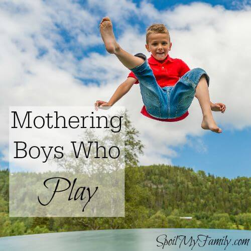 Pretty much anything jumpy or noisy is great fun for boys! www.themidlifemamas.com #noisyboys #boynoise