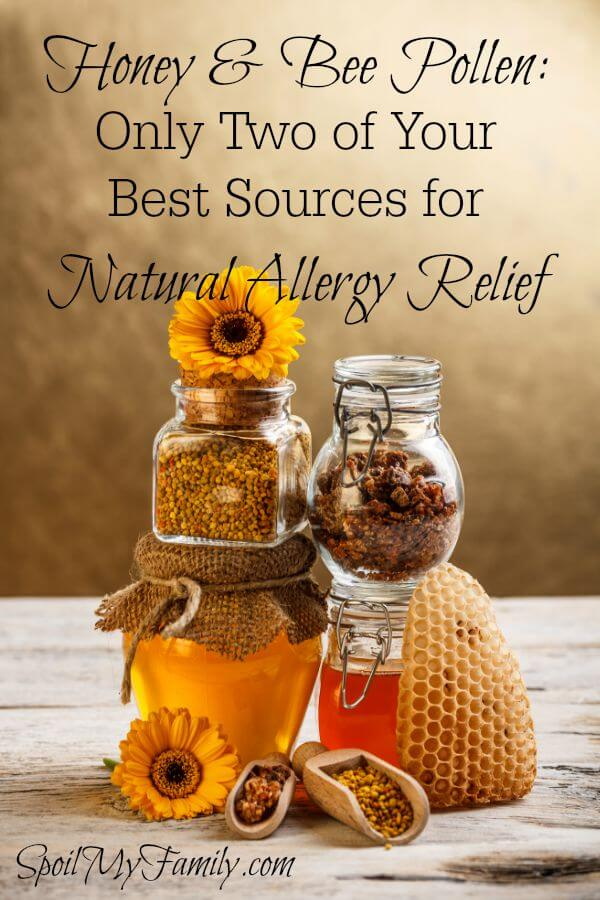 Local honey and bee pollen are only two of many really great sources for natural allergy relief. www.themidlifemamas.com #naturalremedy #naturalremedies #naturalallergyrelief