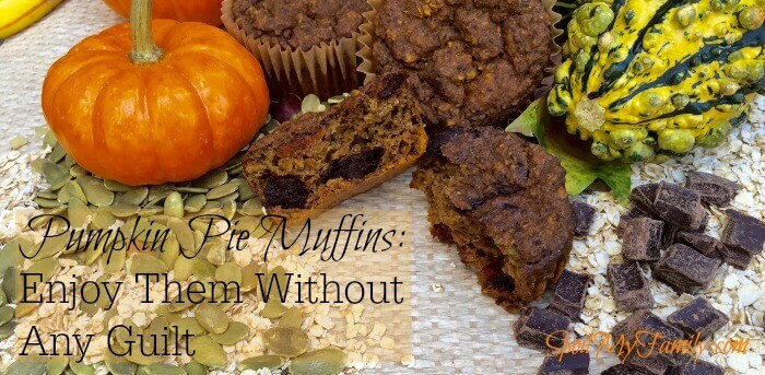 Pumpkin pie muffins bring all the flavors of the season - and with lots of fiber and great nutrients! #healthymuffinrecipes #healthymuffinrecipe #pumpkinmuffins #pumpkinmuffinrecipe