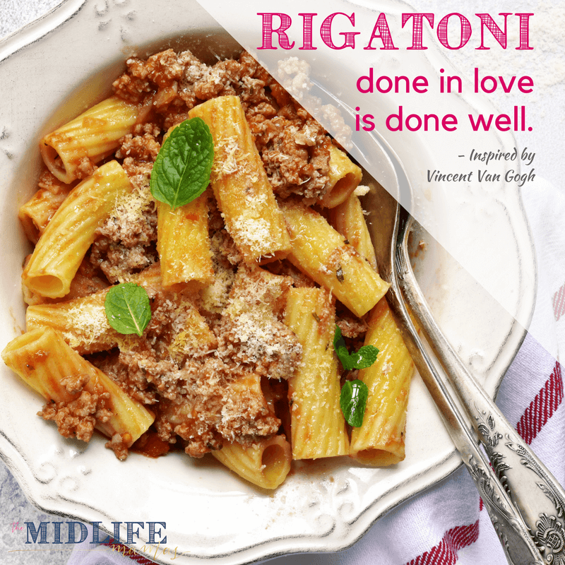This is one of the most authentic recipes for Italian beef and pork ragu I've found! This easy ragu recipe is quick and comforting - my favorite comfort food ever! #ragu www.themidlifemamas.com