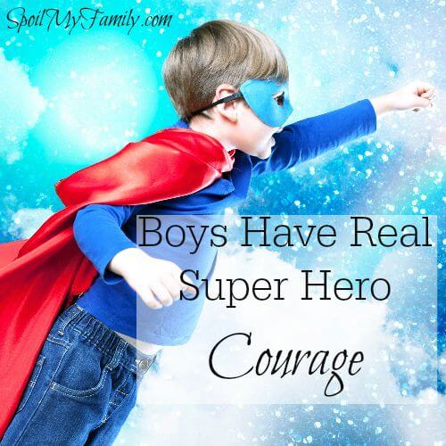 Boys courage is far from all pretend. I've witnessed more courage in my two little boys than, frankly, I could ever imagine having! www.themidlifemamas.com #courageousboys #boyswithcourage