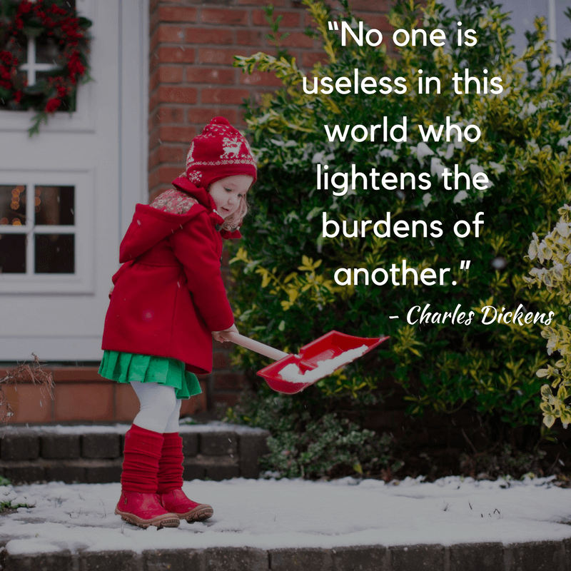 If you want ideas, service projects, printables and more for Christmas acts of kindness, look no further than this collection of over 100 ideas for Christmas giving for children (and adults) of all ages! #actsofkindness #Christmaskindness www.themidlifemamas.com