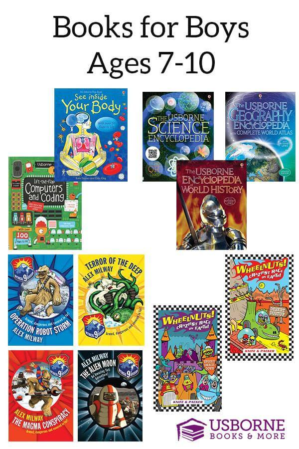 Usborne books are beautiful, heirloom quality books, with fantastic stories and beautiful illustrations. Find some wonderful selections for your young man! www.themidlifemamas.com