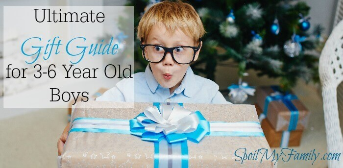 This is the ultimate gift guide for young boys - 3-6 years old. Sometimes they get stuck on one thing and forget how many other things they enjoy! This is the ultimate list to have Santa help them find some variety! www.themidlifemamas.com