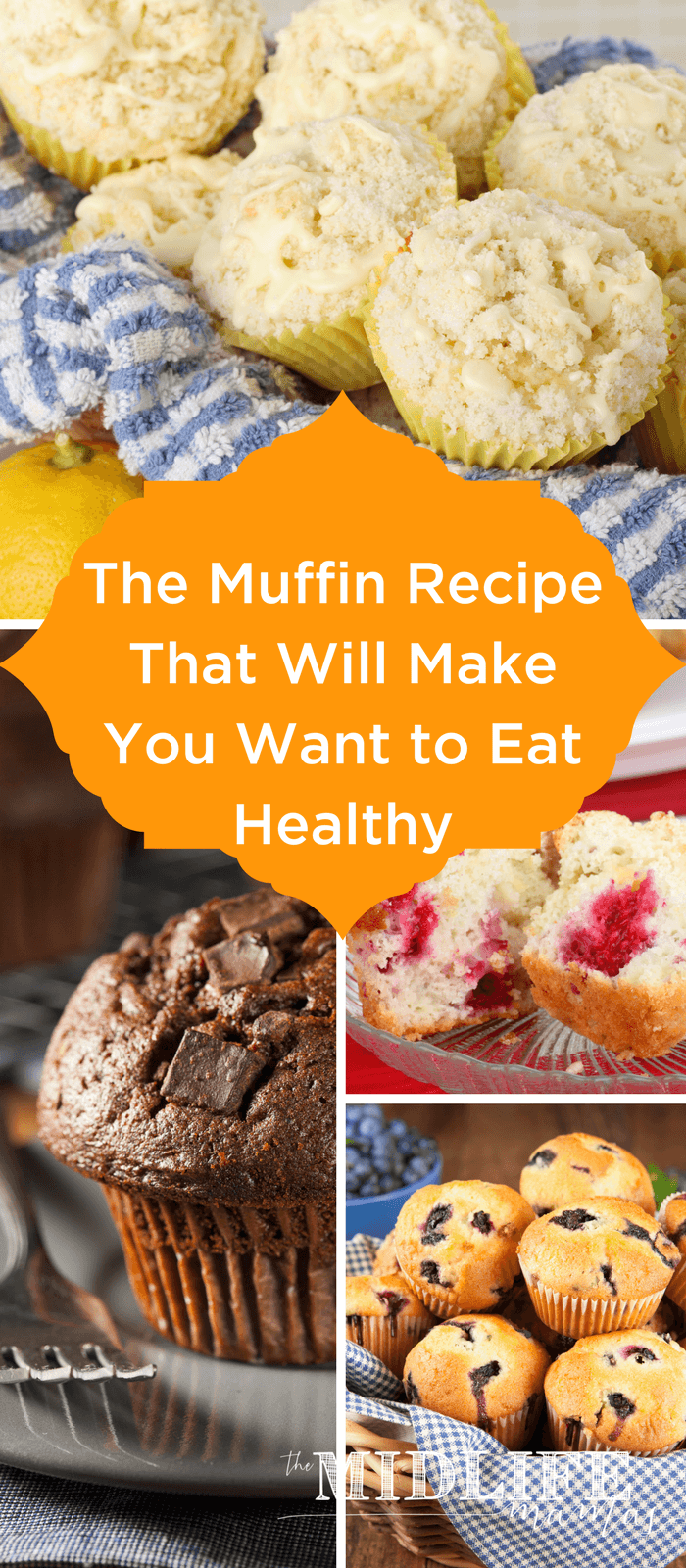 My kids love this easy healthy muffin recipe for snacks, lunches, or breakfasts on the go. They are clean eating at its finest and they are gluten-free including banana, flax, chia and oats. Bonus: many are allergen free or allergen free optional! #healthymuffin #allergenfree #glutenfree #muffin www.themidlifemamas.com