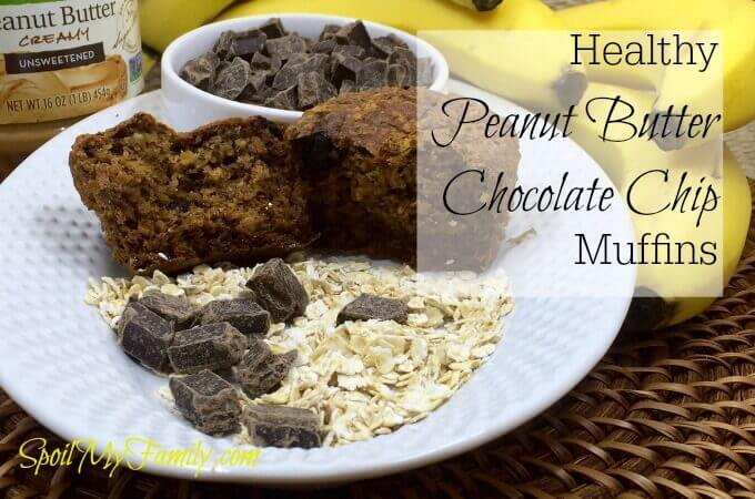 This is the best healthy muffin recipe I've found! Peanut Butter Chocolate Chip muffins! www.themidlifemamas.com