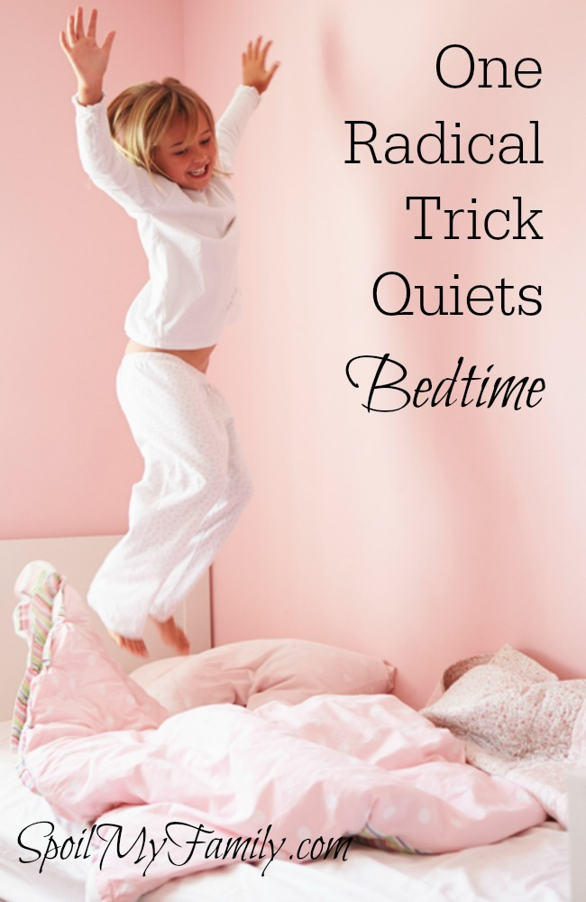 "What do you do when the bedtime routine isn't working? When we were in a ""down,"" this simple hack did the trick! www.themidlifemamas.com"