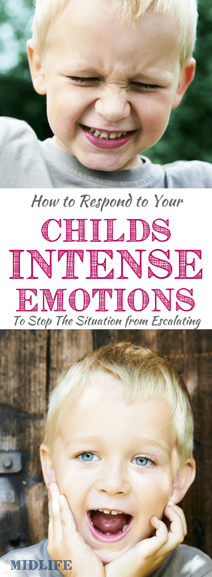 I love my strong willed child. But raising, teaching, and otherwise parenting a strong willed child can pose some, a-hem...shall we say...challenges. I love this tip for responding to the strong emotions of your child! It worked for us!! #strongwilledchild #strongwilled #parenting #parentingtips www.themidlifemamas.com