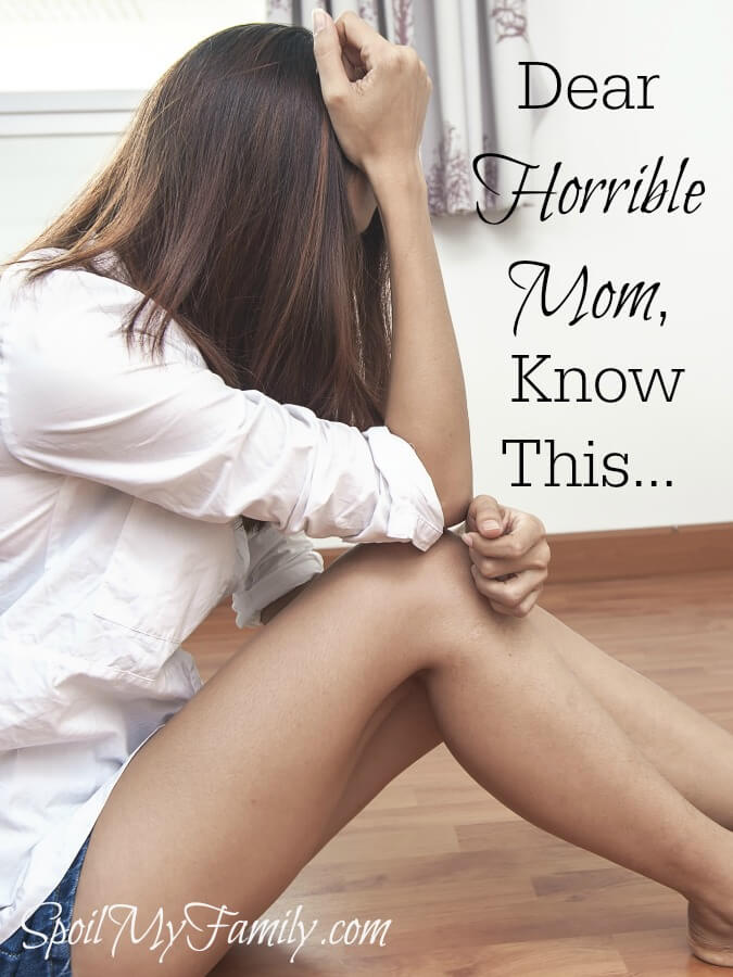 Do you ever feel like a horrible mother? I have those days too. The truth is, we all do. We're in this horrible mother thing together. www.themidlifemamas.com