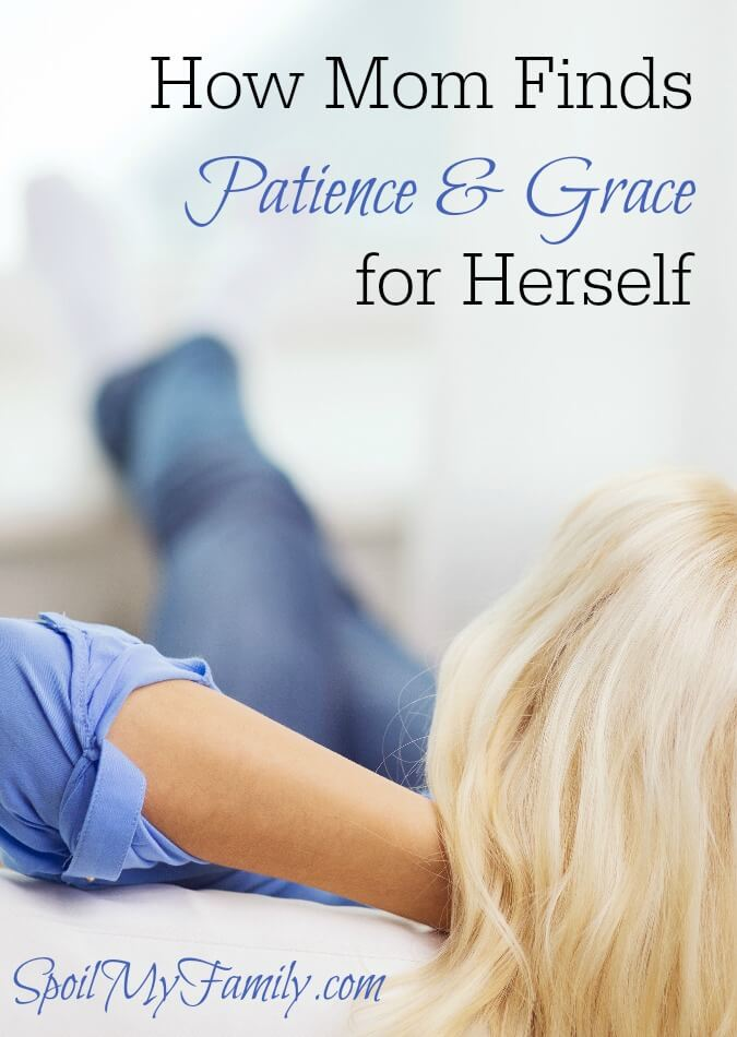 It feels like all my patience goes to my children and there's none left for me. I liked this idea about how to have grace and patience with yourself. www.themidlifemamas.com