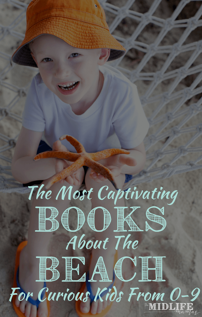 If you're looking for fun summer beach activities, we loved this list of books for children all about things that go on at the beach! We had fun reading and learning about what we saw at the beach! #beach #beachbooksforkids #reading #readwithkids www.themidlifemamas.com