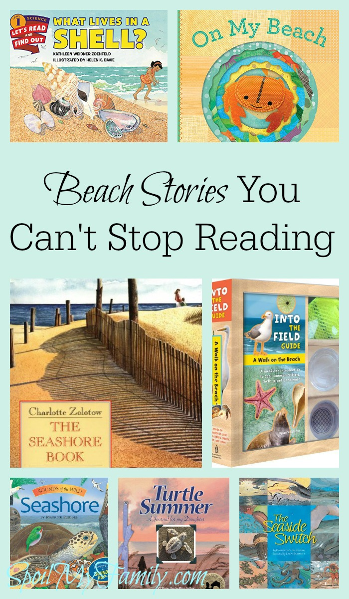 This list of beach books for children has books for any age. If you're heading to the beach, grab a book or two from the list and your beach towel and you're all set! www.themidlifemamas.com
