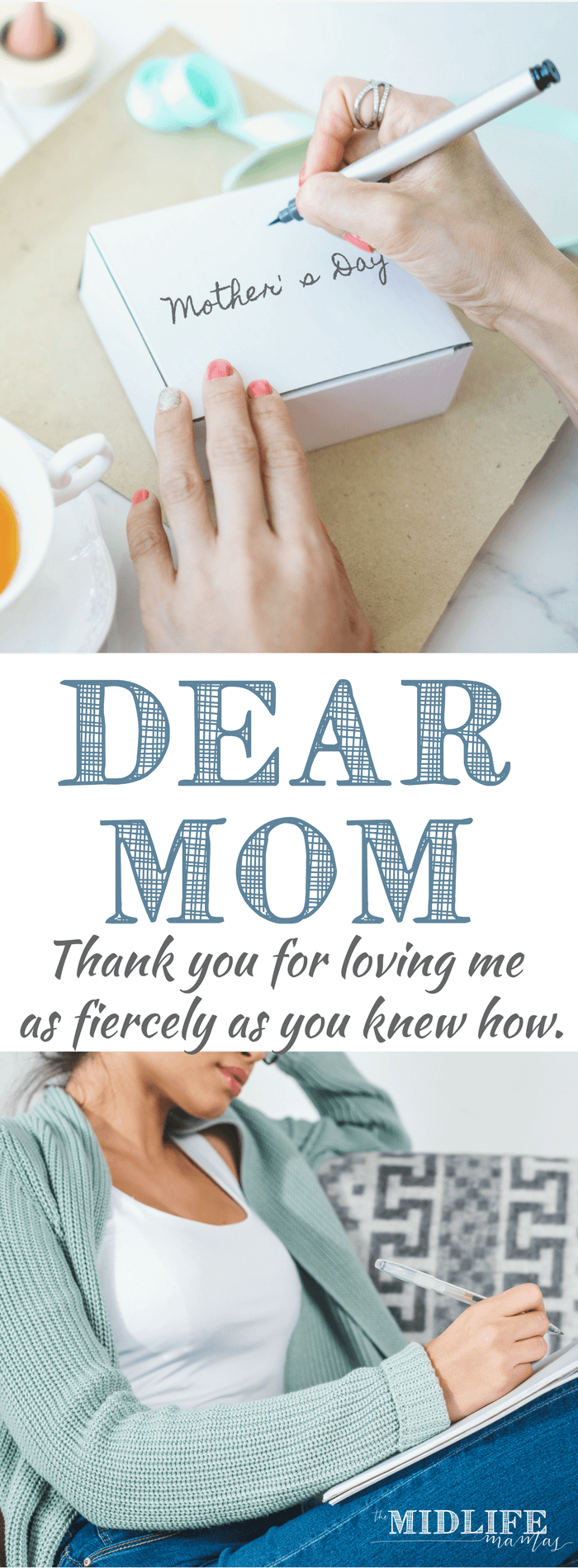 Mother's Day can be tough if you have a difficult relationship with your mom. Maybe you can still pull gratitude from the ashes if you can acknowledge how, even hurtful behavior, helped you grow into the woman you are now. Maybe one day, you'll be able to find something that allows you to say, Dear Mom - thank you. #mothersday www.themidlifemamas.com