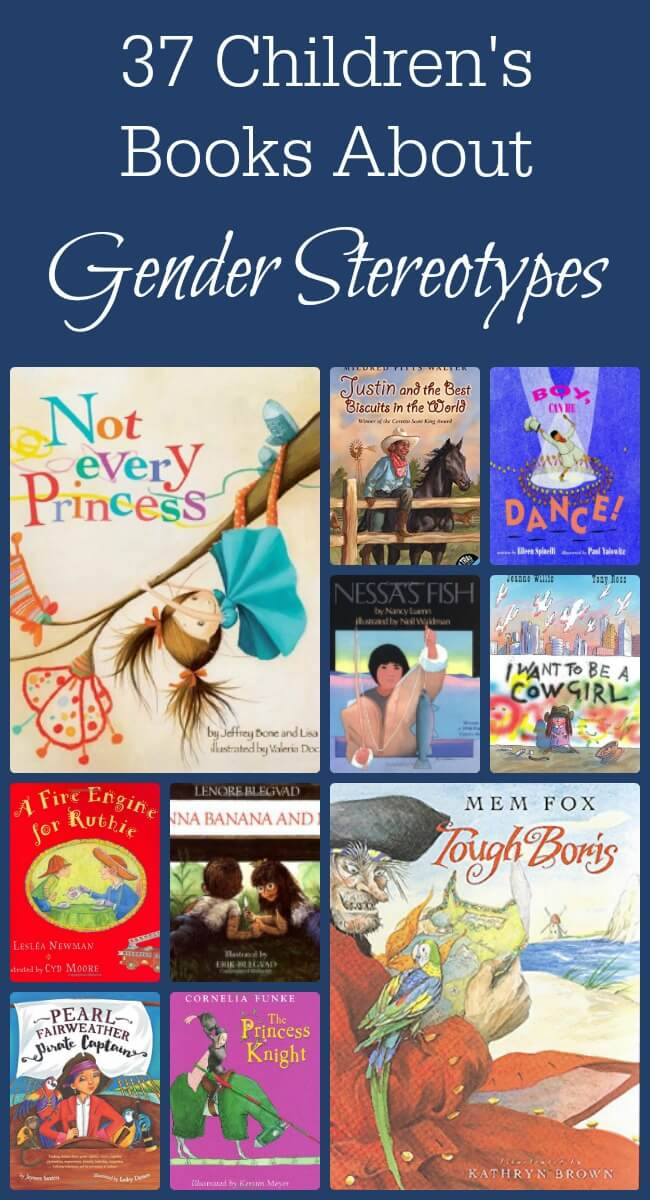 Children's books that defy gender stereotypes are great conversation starters! I love having something as easy as a book to help me ask some great questions! www.themidlifemamas.com