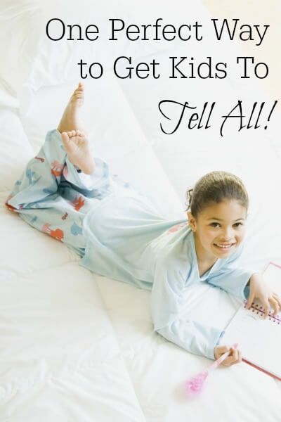 Sometimes it can be harder than you expect to find out what your child did today. I've tried lots of open-ended questions, but this trick worked wonders! www.themidlifemamas.com