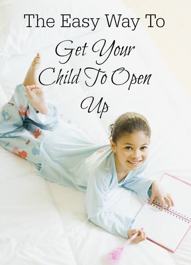 Sometimes it can be harder than you expect to encourage your child to open up about their lives. I've tried lots of open-ended questions, but this simple suggestion worked wonders! www.themidlifemamas.com