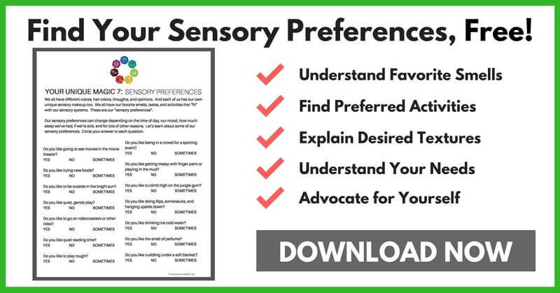 Everyone has sensory preferences - find out yours and your child's - in this quick fun quiz! www.spoilmyfamily.com