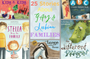 I love these stories for children about gay and lesbian families that do all the same things other families do every day.