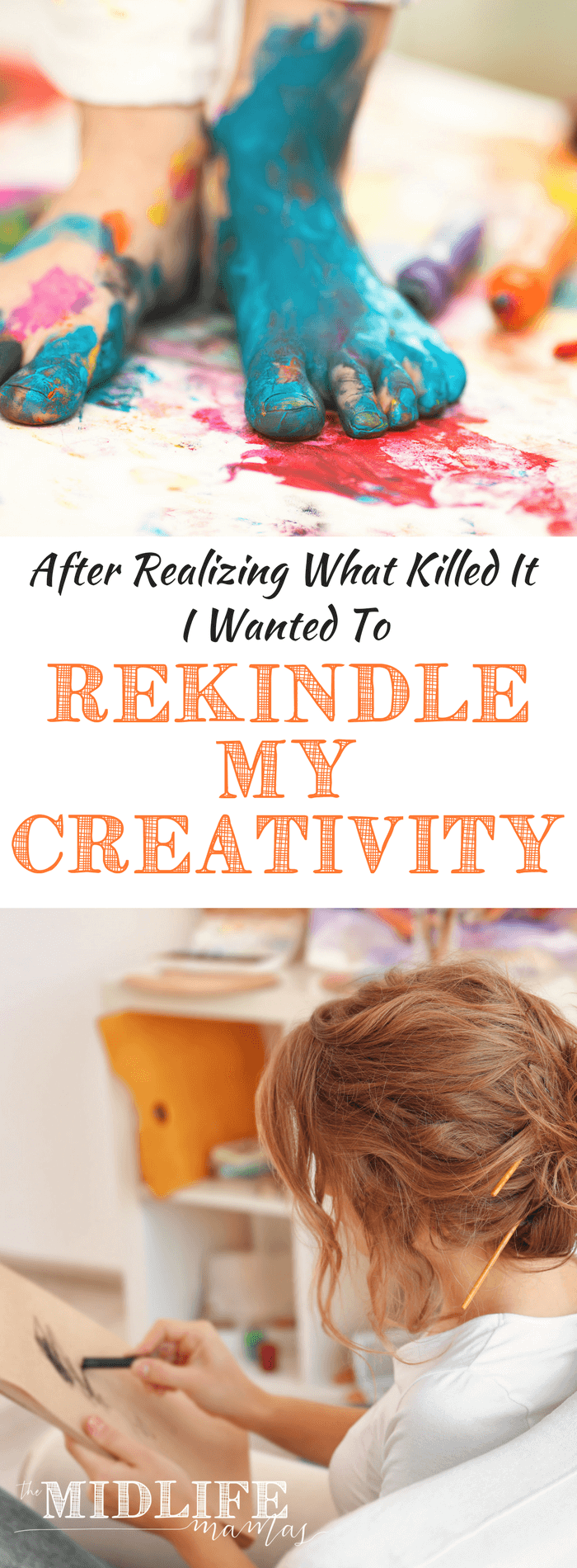 Want inspiration to be creative? It doesn't matter whether your jam is photography, writing, arts or crafts - creativity actually correlates with happiness and life satisfaction! #creativity #inspiration www.themidlifemamas.com