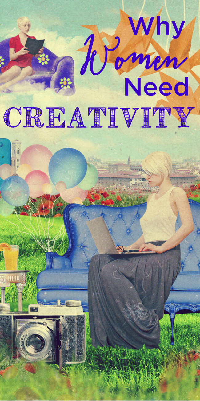We are all born to be creative. And we start out that way, but then we stop. Do we need to continue to be creative? YES!! And this is why. www.themidlifemamas.com