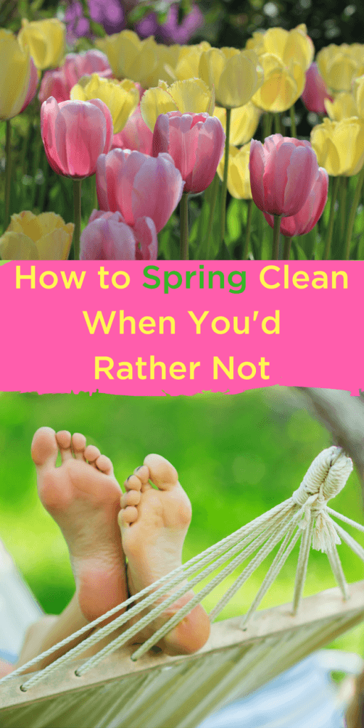 """Want to get outside to enjoy friends and family this spring? Clean when you have spring fever - this is more of a guided spring """"spiff up"""" so you can move on with what's more important. www.themidlifemamas.com"""