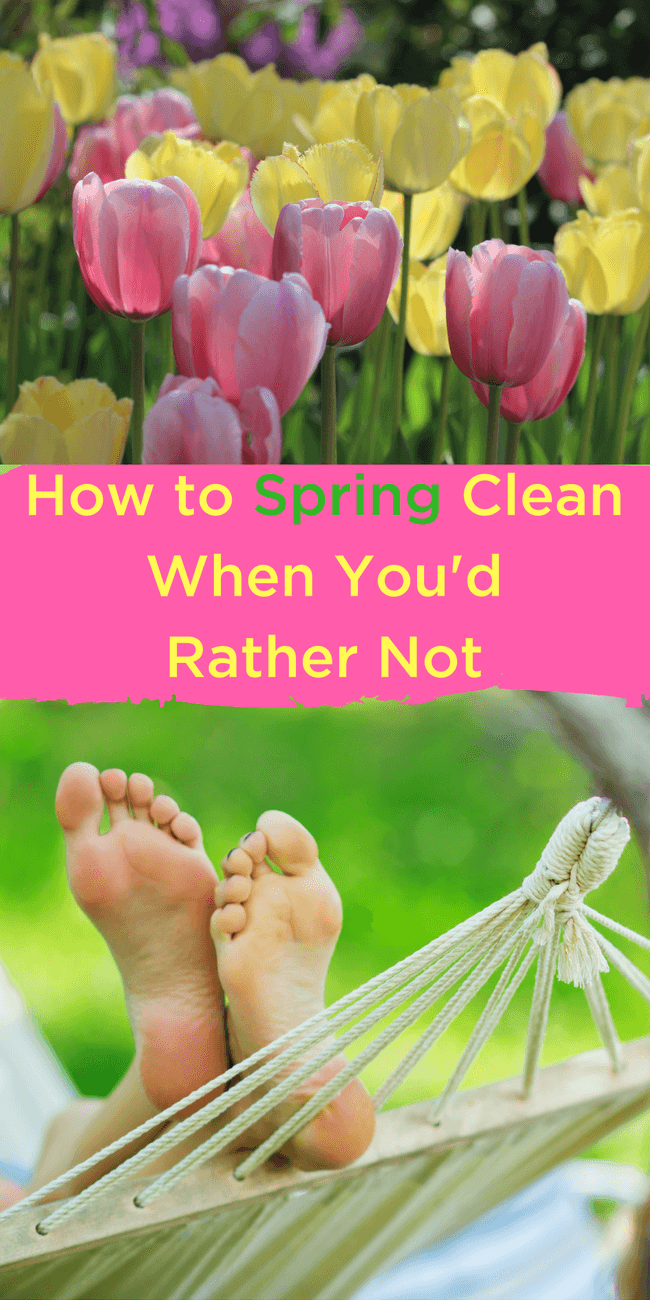 Is spring fever pushing you outside? Check out this completely reimagined way to spring clean when you have spring fever and would rather be outside!
