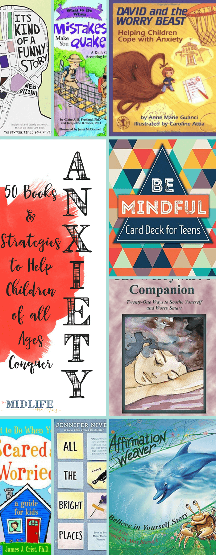 Stories for children about anxiety is the best list I've found with both stories and strategies for every kid of every age with any kind of worries! www.themidlifemamas.com