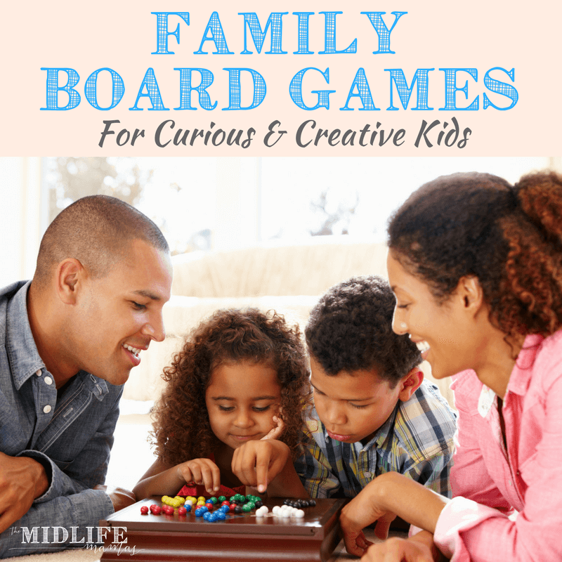 Are you looking for good ideas for indoor board games for boys? Our love of board games is one of my favorite things about our family life. These board games for creative kids are simple and low tech, but they always deliver on the fun! My guys love a creative challenge. If yours are too - this list is pure gold!! Save it and share it...you'll be glad you did! #gamesforboys #creativekids #boardgames #indoorgames www.themidlifemamas.com