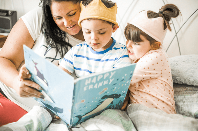 Image of mother reading children's bedtime stories